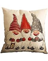 """Amybria spazio Natale sci ssen Start Auto decorazione divano federa cover motivo, Muster 14, 45cm*45cm/18""""*18"""""""