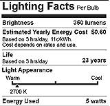 """6 Pack Bioluz LED""""Flame Tip"""" Dimmable Candelabra"""