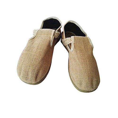 Slip Pure Color Leinen Comfy Leisure Beige Shoes Segeltuchschuhe Flache Meijunter on Unisex Hausschuhe Schuhe 5Fq4ERwXXx