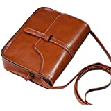 Outsta Vintage Cross Body Bag, Purse Bag Leather Shoulder Messenger Classic Basic Casual Daypack for Travel (Brown)