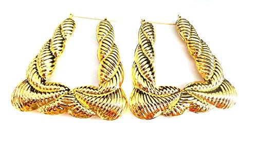 bamboo door knocker earrings - 6