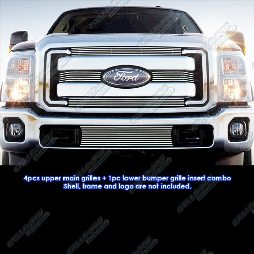 APS Fits 2011-2016 Ford F-250/F-350/Lariat/King Ranch/XLT Billet Grille Grill Combo # F61038A