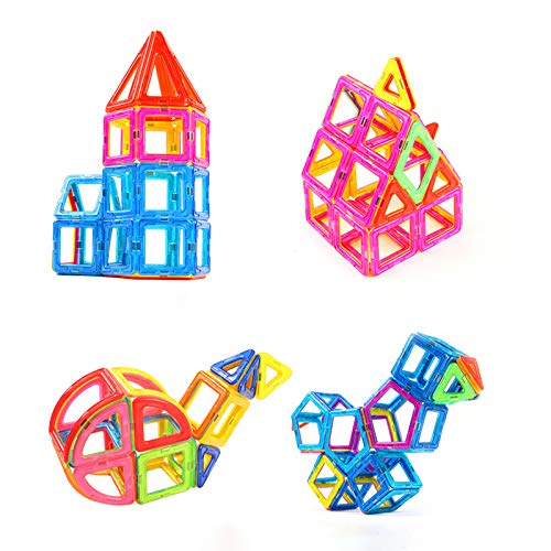 KUHU Assembling Toys Magnetic Piece Building Blocks Children's Toys Assembling Patch Magnet Puzzle Diamond 3-10 Years Old Toys 96 Tablets by KUHU (Image #1)