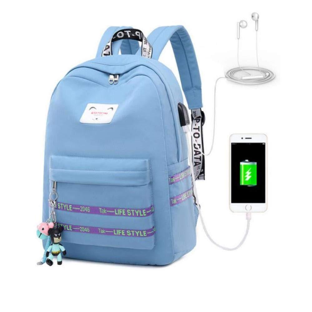 Sac d/école Casual Femmes Sac /à Dos USB Charge Sacs /à Dos Sacs d/école pour Adolescents Fille Sac /à Dos pour Ordinateur Portable /étudiants Cartable
