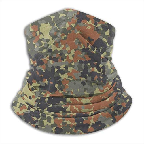 De Li Sheng Schlauchschal Herren,Halswärmer Warm German Flecktarn Camouflage Five Abstract Unisex Fleece Neck Warmer Face Warmer Neck Tube Neck Scarf Neck Gaiters