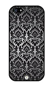 iZERCASE Damask Pattern iphone 5 RUBBER case - Fits iphone 5, iPhone 5S T-Mobile, AT&T, Sprint, Verizon and International