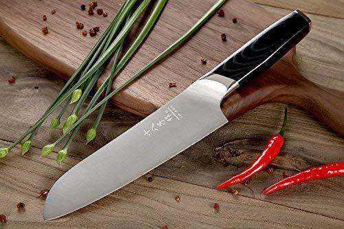 Santoku Knife 7 inch Stainless Steel Vegetable Knife with Ergonomic Handle