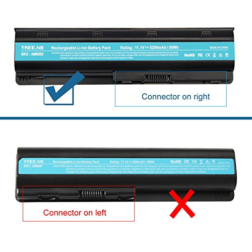 Replacement Battery for HP Spare 593553-001, HP Compaq Presario CQ32 CQ42 CQ43, HP Pavilion dm4 g4 g6 g7 DV3-4000 DV5-2000 DV6-3000 DV7-6000, COMPAQ 435 436, fits HP MU06 (General Battery) by AC Doctor INC (Image #2)