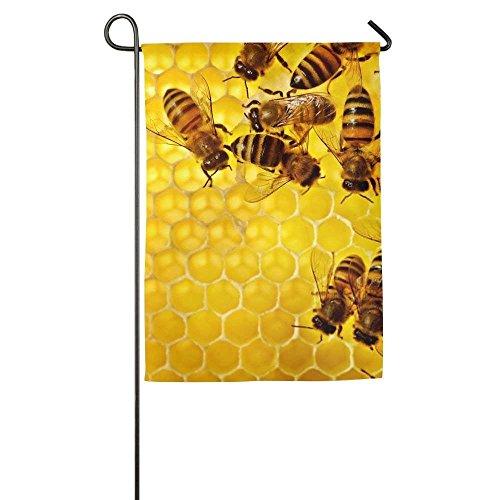 SWQYL Garden Flags Online Honeycomb Bee Honey Spring Outdoor