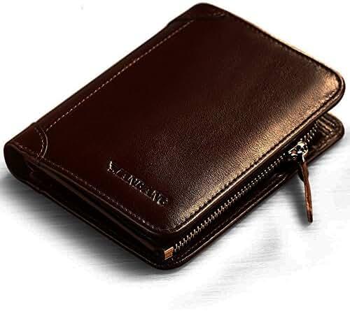 Men's Italian Genuine Cowhide Leather Extra Capacity Bifold Wallet