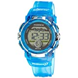Cute LED Water-proof Sport Digital Wrist Watch for Teen Girls Boys (Blue)