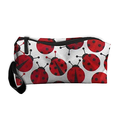 Travel Makeup Red Ladybugs Cosmetic Pouch Makeup Travel Bag Purse Holiday Gift For Women Or -