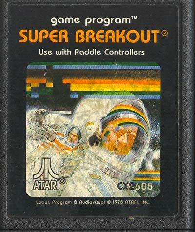 Super Breakout Atari 2600 Video Game Cartridge