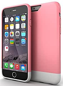 """iPhone 6 Case : Stalion? [Slider Series] iPhone 6 (4.7"""") Hard Case Premium Coated Non-Slip Matte-UV Texture [Lifetime Warranty](Pink Rose/Powder White) Sliding Style Seamless Perfect Fit + Protective Microfiber Soft-Interior + Smooth Scratch Proof Surface"""