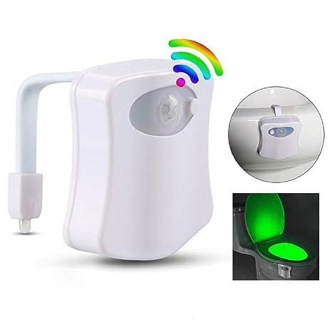 WC Luz Nocturna Smart PIR Sensor de Movimiento Asiento Del Inodoro Luz Nocturna Luz Del Baño