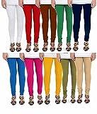 LGRL Cotton Churidar Leggings in Dark Maroon,Light Pink Color_VM2002(38)
