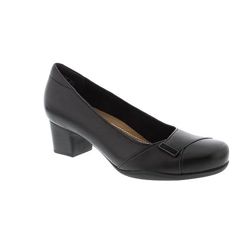35d25022b14 Clarks Rosalyn Belle - Black Leather Womens Heels 8 US  Amazon.ca ...