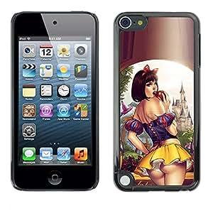 Caucho caso de Shell duro de la cubierta de accesorios de protección BY RAYDREAMMM - Apple iPod Touch 5 - Skirt Lips Sensual Woman Girl