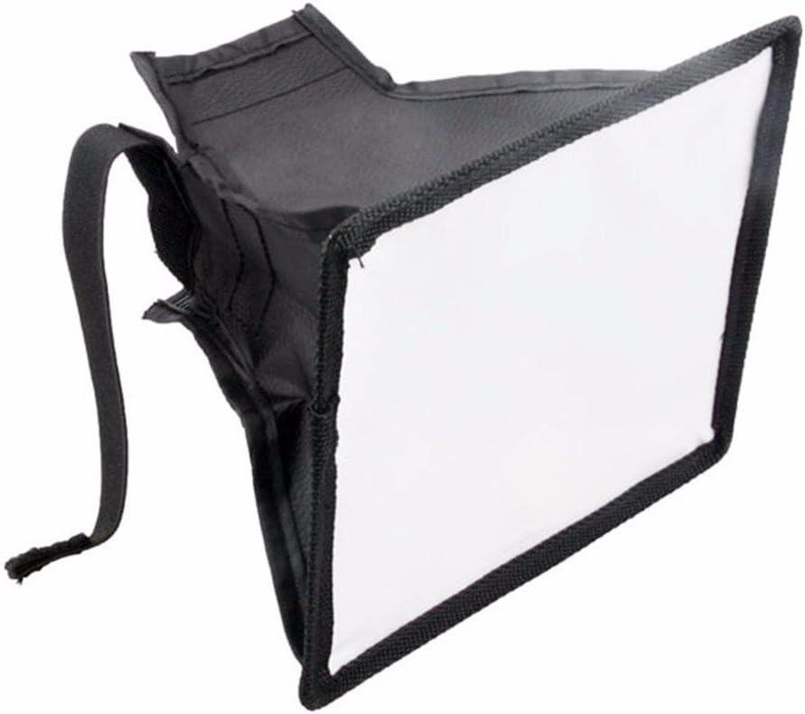 EXMAX Round Flash Umbrella Softbox Universal Mini Portable Diffuser Silver White Reflector for Canon Sony Speedlite