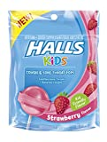 #1: Halls Kids Pops Cough and Sore Throat Strawberry, 10 ct