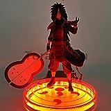 Rinnegan Base 200mm Naruto Naruto Action Figure Uchiha Madara Led Shippuden Uchiwa Madara Figurine Collectible Model Toys
