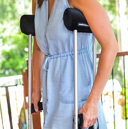 Comfy Crutches Premium Crutch Pads Ultra Padded Cushions and Hand Grips for Crutches Making Crutches Comfortable Crutch Pads Worn by Pro Surfer Joel Parkinson