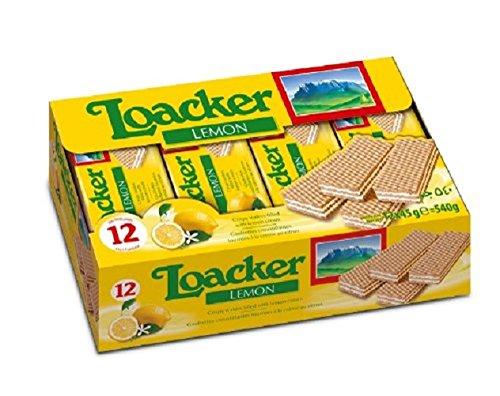 (LOACKER COOKIE WAFER CLASS LEMON, 1.59 OZ (12 per pack))