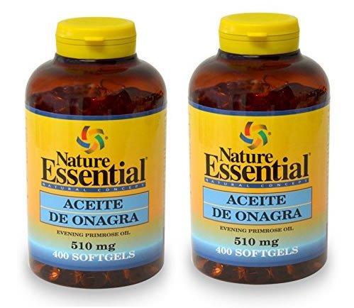ACEITE DE ONAGRA 510 MG. (10% GLA)  400 PERLAS: Amazon.es: Salud y cuidado personal