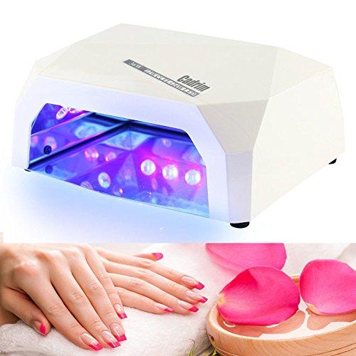 Cadrim Secador de Uñas Lámpara de LED UV con Ventilador y Temporizador