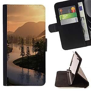For HTC Desire 820,S-type Naturaleza Hermosa Forrest Verde 51- Dibujo PU billetera de cuero Funda Case Caso de la piel de la bolsa protectora