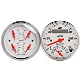 Auto Meter 1309 Arctic White Quad Gauge/Tach/Speedo Kit