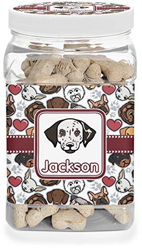 (Dog Faces Pet Treat Jar (Personalized))