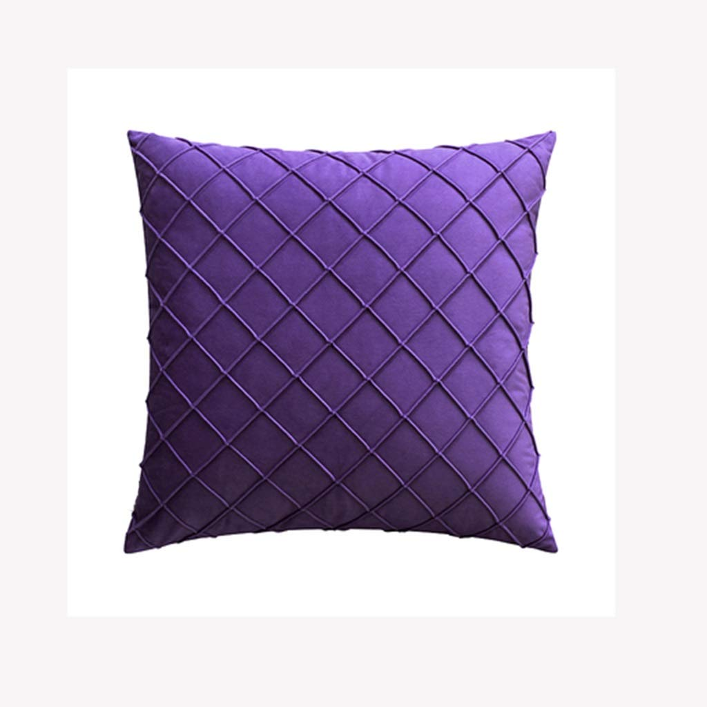ZDNALS Solid Color Home Pillow, Velvet Geometric Sofa Cushion Multi-Color Optional 45cm×45cm Pillow (Color : B) by ZDNALS