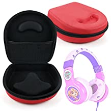Hard 'Shell' EVA Pouch Case (Red) - Compatible with Paw Patrol Skye Kid-Friendly Headphones - by DURAGADGET