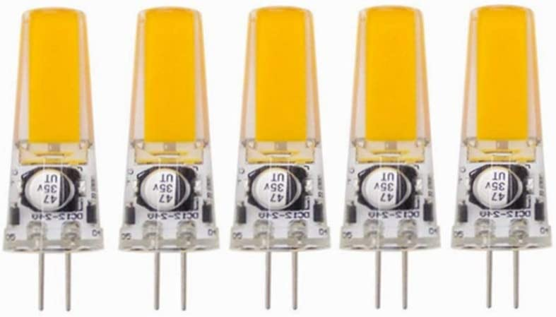 Hogar bombilla Bombilla LED GY6.35 No Regulable, Base Bi-pin GY6.35 / G6.35, AC/DC 12-24 Volt, 3Watt Equivalente a T4 JC Tipo 25W Reemplazo de Bombilla Halógena Incandescente