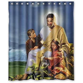 60x72 Inches Christian Jesus Christ Bible Story Shower Curtain Rings Included Smart Choice For Bathroom