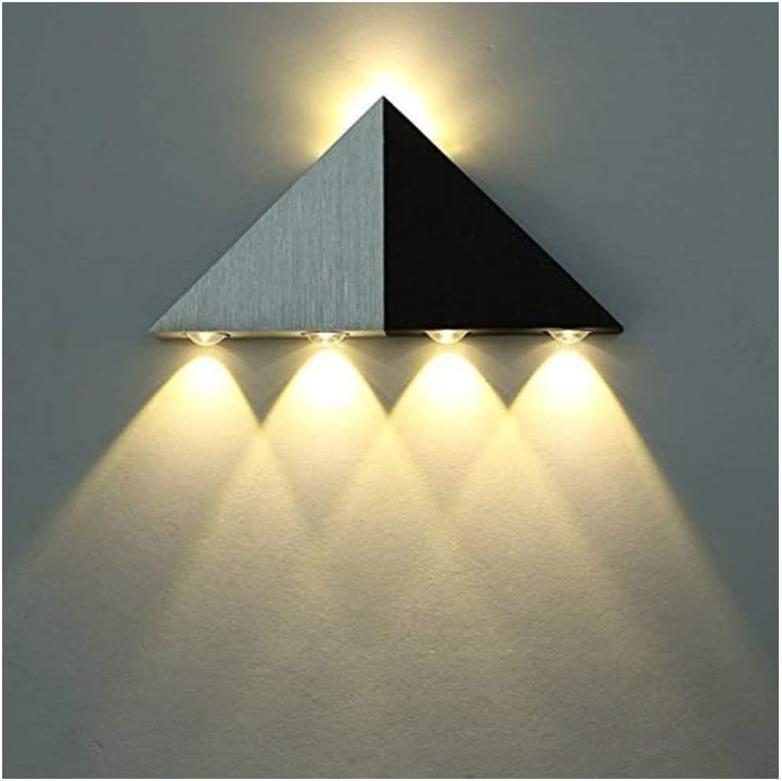 Lámpara decorativa con luces de pared LED con forma de triángulo de 5 W para mueble de baño