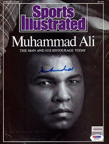 Muhammad Ali Signed Sports Illustrated Magazine Vintage - PSA/DNA Authentication - Boxing (Psa Dna Autograph Authentication)