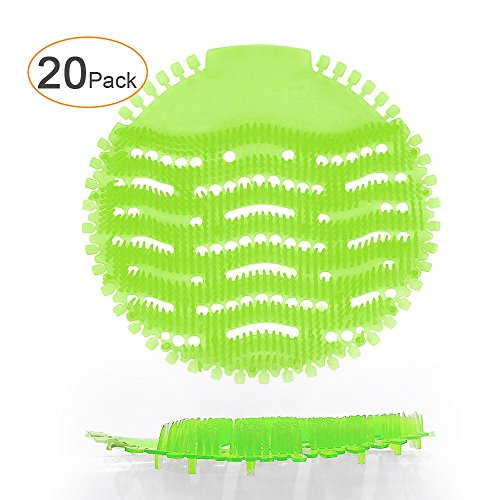 Ikeda scents 20 Pack HonTop Urinal Screens Deodorizer Anti Splash Technology - Fits Most Top Urinal Brands at Restaurants, Office Building, Home, Schools, etc. (20-Pack, Green - Melon) by Ikeda scents