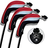 Andux 3pcs Set Golf Hybrid Club Head Covers with Interchangeable No. Tag Pack of 3