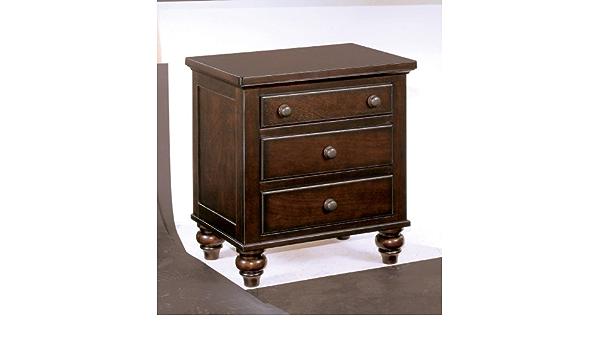 Amazon Com Signature Design By Ashley Camdyn Dark Brown Three Drawer Nightstand Furniture Decor