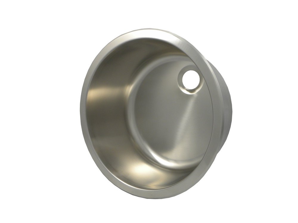 Opella 14157 16.1'' Round Self Rimming / Undermount Bar Sink, Brushed Stainless