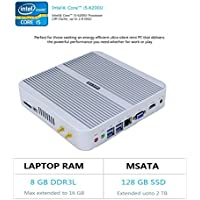 HYSTOU FMP03 Intel Core I5-6200U, Gaming Mini Pc, Mini Desktop Computer,Finless Mini Box PC,Power Interuption Recovery,Support Dual Display,Windows 10 (64 bit) (8GB RAM 128GB SSD)