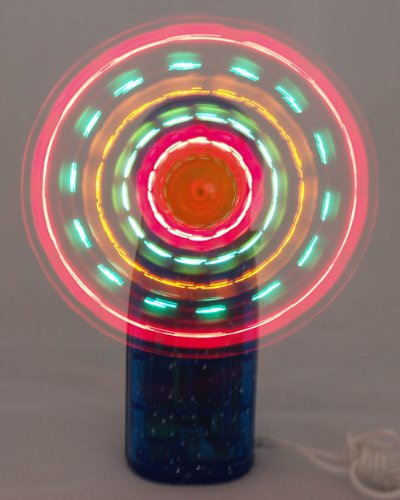 Flashing Panda LED Mini Light-Up Handheld Personal Fan w/ Changing Patterns, Assorted Colors]()