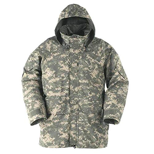 US Army Genuine Military Issue GEN 2 II ECWCS Camouflage Goretex Waterproof Parka Jacket Coat (ACU, LR) Acu Gore Tex Jacket