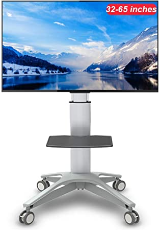 YUIOLIL 32-65 Pulgadas LED LCD OLED Pantalla Plana Plasma TV móvil Soporte TV girado Carro Soporte de TV de Piso: Amazon.es: Hogar