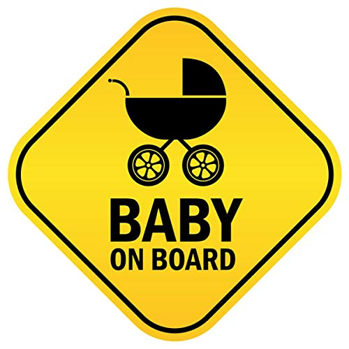 Baby On Board Sticker Reflective Vehicle Bumper Magnet for New Parents, Removable Waterproof Car Decals Safety Signs Reduce Road Rage and Accidents for Kids Children (1Pc)