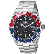 Invicta Men's 'Pro Diver' Quartz Stainless Steel Diving Watch, Color:Silver-Toned