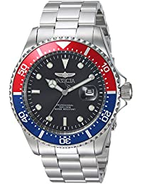 Men's 'Pro Diver' Quartz Stainless Steel Diving Watch, Color:Silver-Toned (Model: 23384)