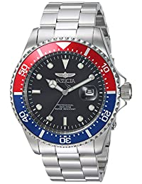 Invicta 23384 Men's 'Pro Diver' Quartz Stainless Steel Diving Watch, Color:Silver-Toned